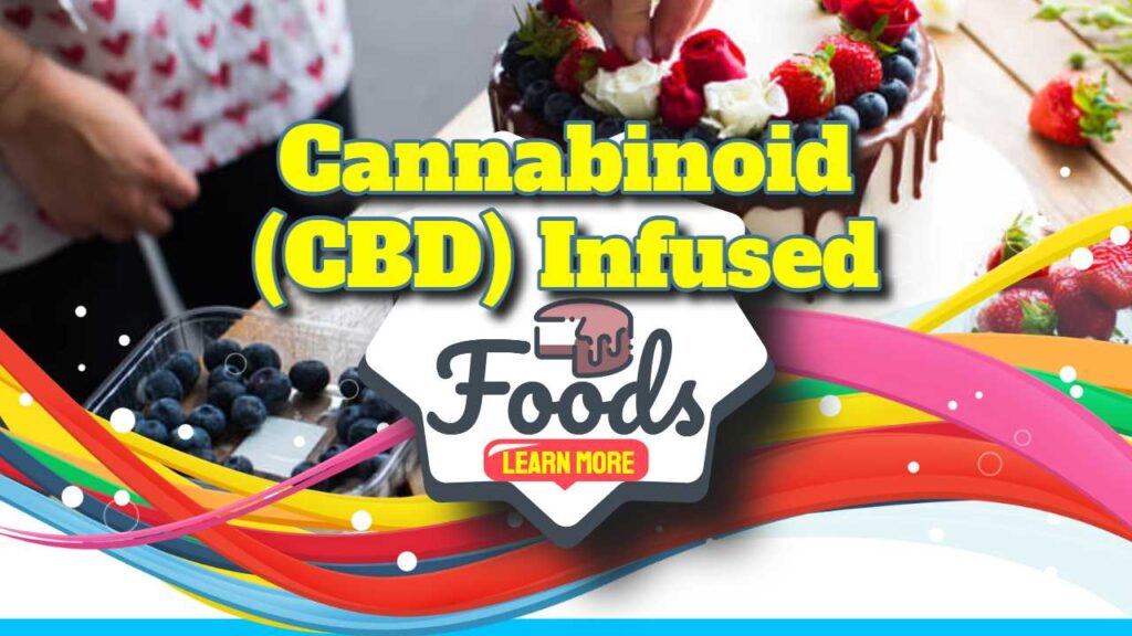 """Featured image with text: """"CBD Infused Foods - The debate""""."""